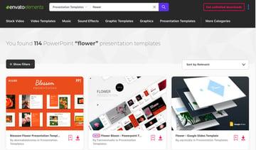 powerpoint templates flowers - Envato Elements Flower