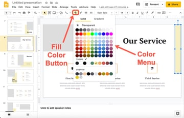 How to change an objects color