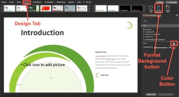 Plant PowerPoint Template Tutorial Step 2