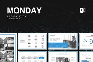 Monday Presentation Template with Icons