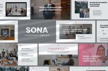 Sona Minimal Resume PPT template