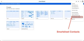 Smartsheet Contacts
