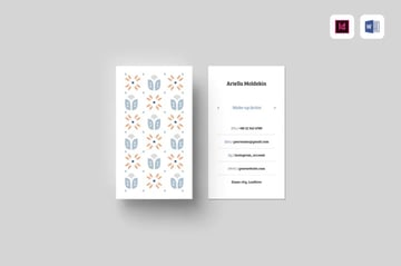 Consider vertical business cards