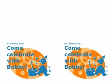 Childs birthday party invitation