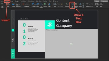 How to Add New Text to the Slide