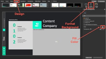 How to Change the Background Color of Your Slide