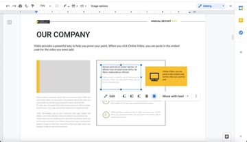 How to resize the text in your annual report template