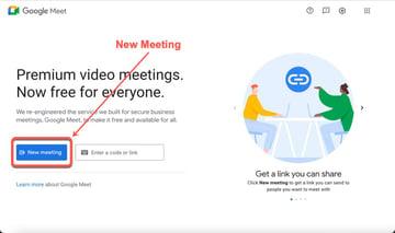 Create a meeting.