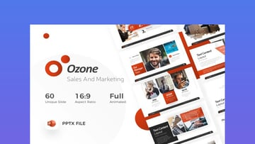 Ozone Sales & Marketing PowerPoint Template
