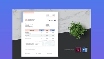 Microsoft Word Clean and Minimal Business Invoice Template