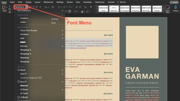 An easy way to customize your your Microsoft Word template is to change the font.