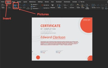 How to add your signature image.