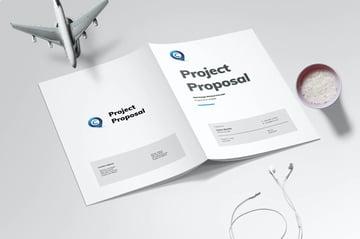 This premium website proposal template has a minimal design.