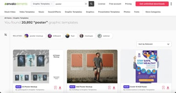 Envato Elements has hundreds of poster templates.