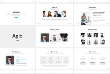 Agio is a premium PowerPoint template that can be used for any topic.