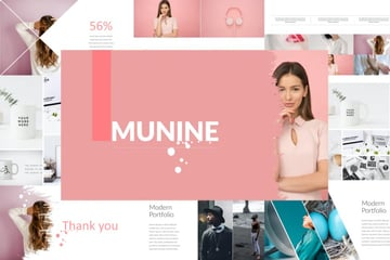 Munnie creative template is a premium template from Envato Elements.