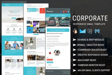 The Corporate - Responsive Email Newsletter Template is from Envato Elements.