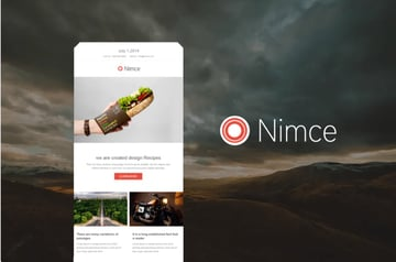 The Nimce email template works with phones and on a desktop.