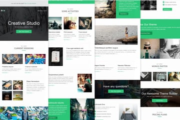This email newsletter template with a pop of color in the design is from Envato Elements.