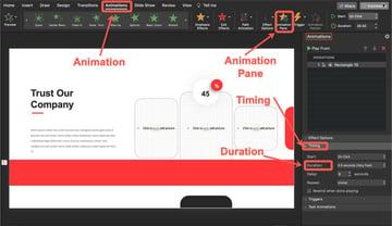 Add timer duration.