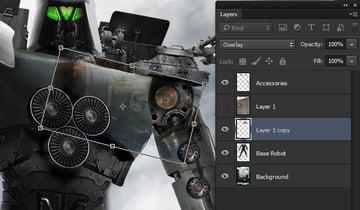 Scaling the texture layer to fit the robot