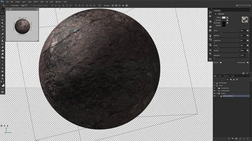 Map the planet texture onto a 3D sphere