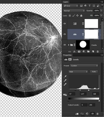 Inverse adjustment layer to swap black and white