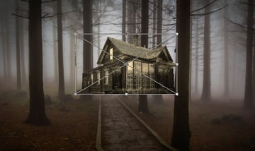 Place the house into the forest setting