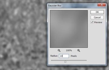 Gaussian blur to soften the fog texture