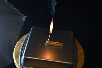 Let the wick burn for a few moments