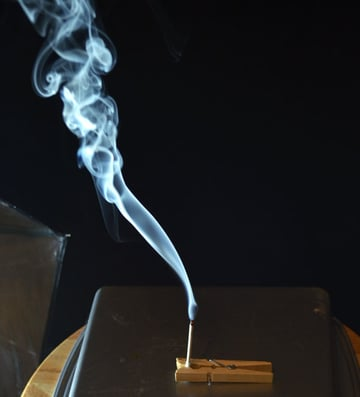 Extinguish the flame to get the full smoke effect