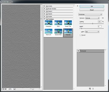 Adding a canvas texture