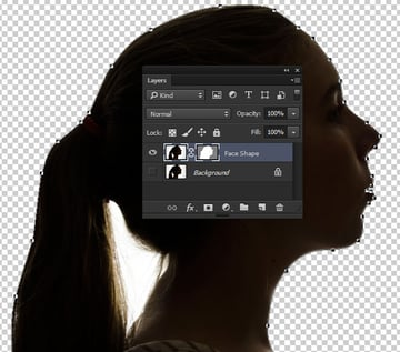 Use a vector mask to isolate the smooth face shape