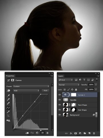 Use Curves to increase the contrast