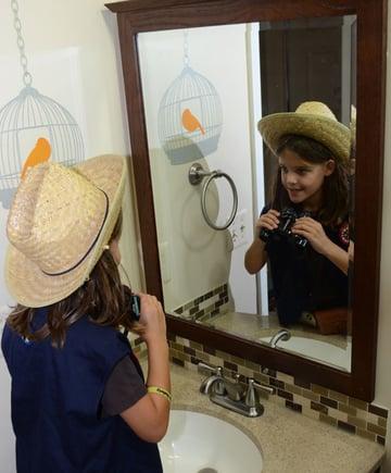 Pose the reflection shot
