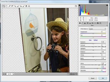 Camera Raw to enhance the refletcion layer