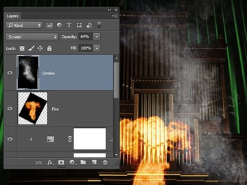Add a layer of smoke to the scene