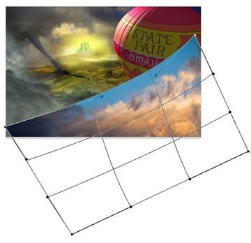 Insert the sunsett-383072 image and wrap it around the balloon