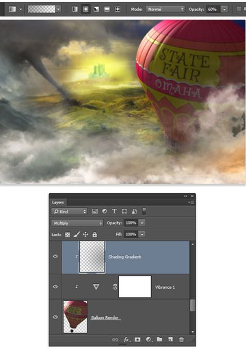 Additional shading on the dark edge of the balloon