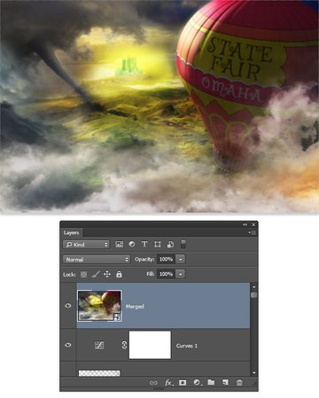 Create a merged layer as a Smart Object