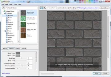 The Castle Bricks filter