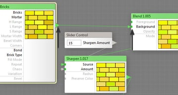 Remap the Bricks output to the Blend input