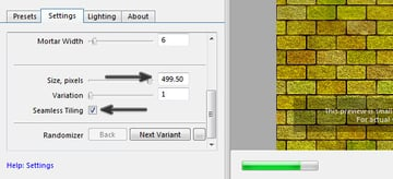 Change the brick size and make the texture seamless