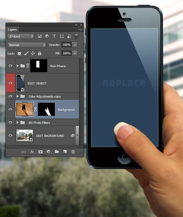 Open the layered Photoshop file