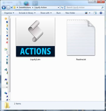 Opene and extract the contents of the zip file