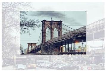Crop the bridge photo down