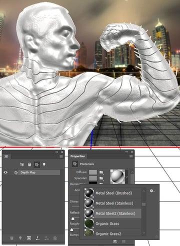 Assign a metallic shader