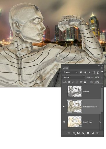 Render out the reflection pass