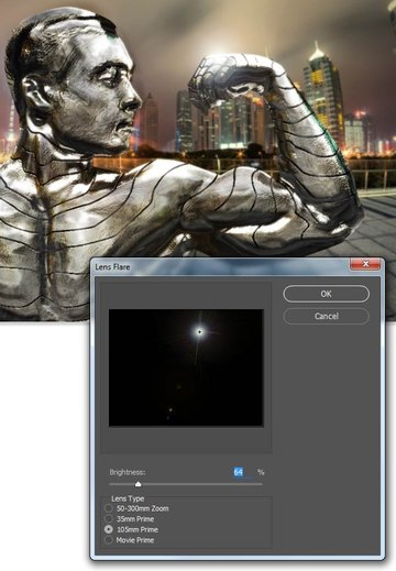 Add a layer for a lens flare