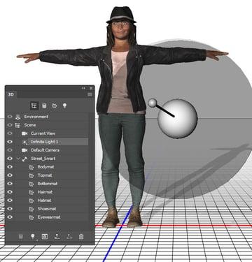 Adjust the 3D scene elements
